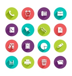 Flat Application Icons Set vector image