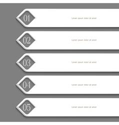 Modern white Design template vector image