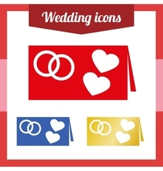 Set of of a wedding invitation vector image vector image