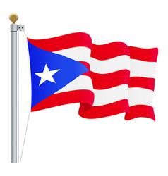 waving puerto rico flag isolated on a white vector image