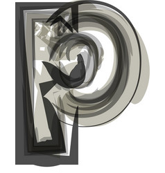 Abstract letter p vector