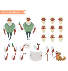 grandfather character for scenes vector image