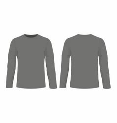mens black long sleeve t shirt vector image vector image