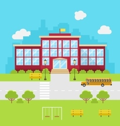School Building Background for Back to School vector image
