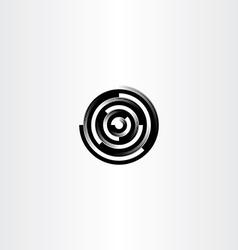 technology black circle abstract logo icon vector image vector image