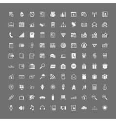 100 universal web icons set vector image vector image
