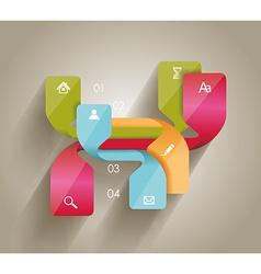 Modern minimalistic infographics banner vector image