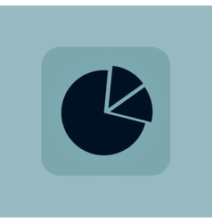 Pale blue diagram icon vector image vector image