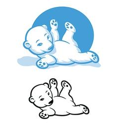 Polar Bear Cub vector image vector image