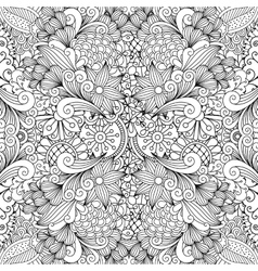 Seamless full frame kaleidoscope decoration vector image vector image