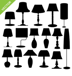 Silhouette lamp vector image vector image