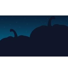 Silhouette of big pumpkins Halloween backgrounds vector image vector image