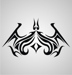 Tribal Bat Tattoo vector image vector image
