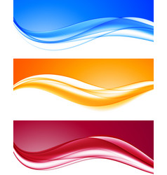 abstract dynamic colorful wavy backgrounds set vector image