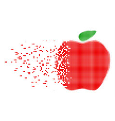 Apple dissolved pixel icon vector