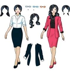 Asian Businesswoman in elegant formal wear vector image