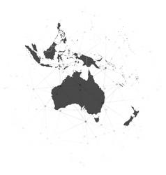 Australia map background for communication vector