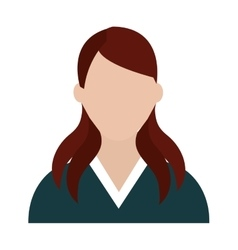 Avatar business woman graphic vector