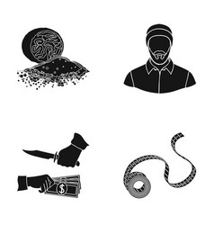 bank business north and other web icon in black vector image