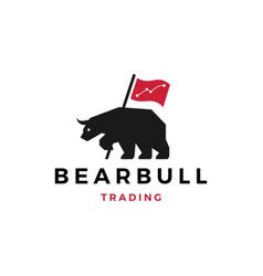 bear bull trading logo vector image