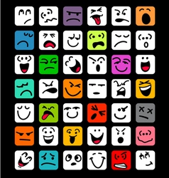 big set of cartoon facial expressions vector image