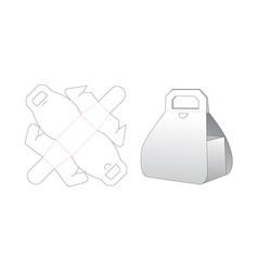 Cardboard gift box die cut template design vector