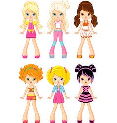 Cartoon doll vector