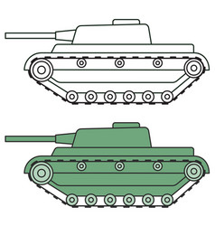Cartoon tank icon vector