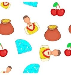 Casino elements pattern cartoon style vector image