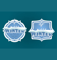 christmas sign with text winter vector image