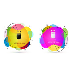 Color quiver and arrows with heart icon isolated vector