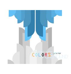Colors shape modern style vector
