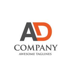 Creative letter ad logo vector