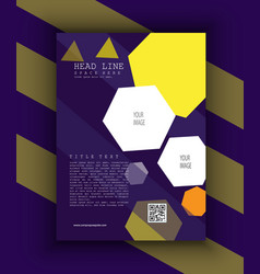 Creative marketing business flyer vector