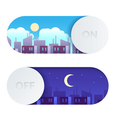 day and night switch control screen lighting vector image