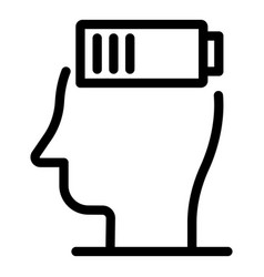 Discharge man battery icon outline style vector