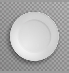 dish plate kitchen food kitchen white porcelain vector image