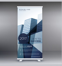 Elegant business standee modern roll up banner vector