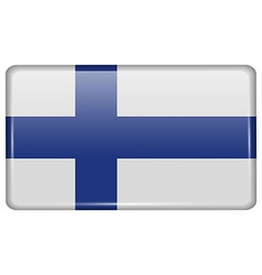 Flags Finland in the form of a magnet on vector