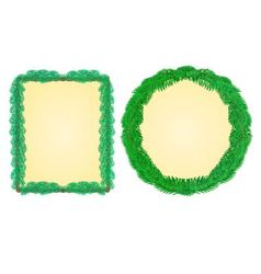 Frame rectangle and a circle from Christmas tree vector