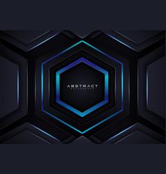 Geometric shape futuristic technology dark blue vector
