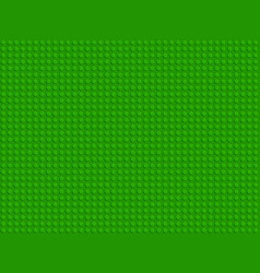 green plastic constructor blocks plate seamless vector image