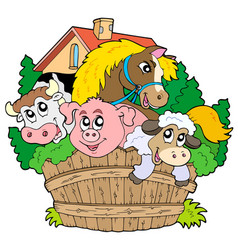 Group of Farm Animals Clipart Vector Images (48)