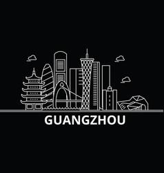 Guangzhou silhouette skyline china - guangzhou vector