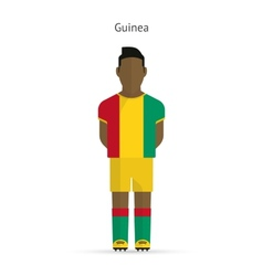 Guinea football player Soccer uniform vector