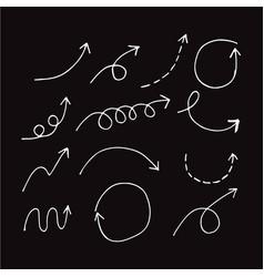 hand drawn arrows design vector image