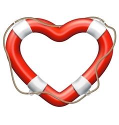 Heart lifebuoy eps 10 vector