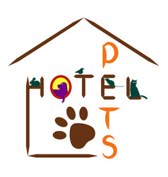 hotel icon for pets on a white background vector image