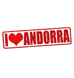 I love andorra stamp vector