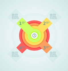infogaphics time vector image